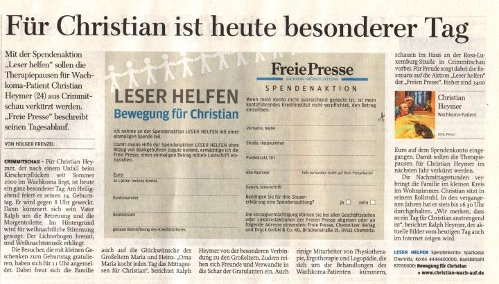 Berichte 2010   Christian Wach Auf